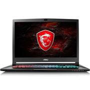 微星 GS73 7RE-004CN 17.3英寸游戏笔记本电脑 (i7-7700HQ 8G 1T+128GSSD GTX1050Ti WIN10 多彩) 黑