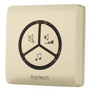 领普科技(linptech) G1香槟金接收器 智能自发电无线门铃家用分体式远距离遥控