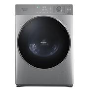 松下 XQG100-S1355 超薄型大容量全自动滚筒洗衣机 一键智洗 远程智控 变频电机 拉丝银