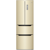 奥马 BCD-303WH/B 303升 法式多门冰箱 风冷无霜 电脑控温 变频节能 (金色)产品图片主图
