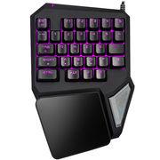 多彩 T9Pro单手机械手感游戏键盘 LOL七彩背光键盘
