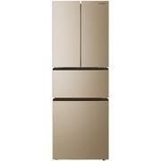 美菱 BCD-306WPCX 306升 0.1度恒温变频 风冷无霜 时尚纤薄 节能静音 法式多门冰箱(金)