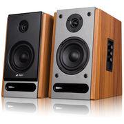 奋达 R25BT 2.0多媒体书架有源音响 无线蓝牙 NFC 4英寸 全木质对箱 HIFI音箱
