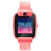 糖猫 搜狗teemo儿童电话手表color 彩屏摄像儿童智能手表 360度防水学生定位手表手机  活力红