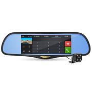 凌度 HS995A 后视镜行车记录仪 蓝牙通话 7.0英寸 安卓导航测速 前后双录