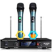 索爱 CK-M53(D)K歌无线话筒无线麦克风一拖二家用会议卡拉OK话筒手持双手麦