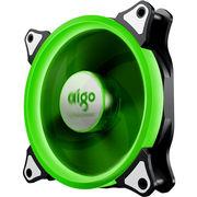 爱国者  极光 12CM绿光 电脑机箱风扇(小3P+大4P双接口/水冷排散热/减震脚垫/赠4螺丝)