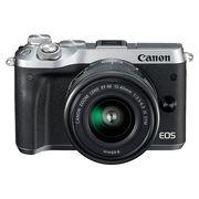 佳能 EOS M6(15-45)微型可换镜数码相机 银色