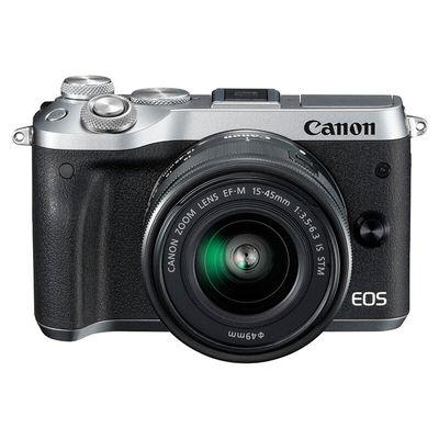 佳能 EOS M6(15-45)微型可换镜数码相机 银色产品图片1