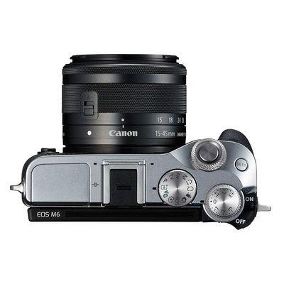 佳能 EOS M6(15-45)微型可换镜数码相机 银色产品图片4