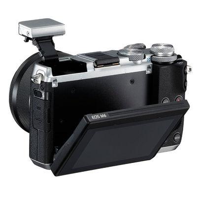 佳能 EOS M6(15-45)微型可换镜数码相机 银色产品图片5