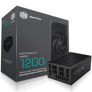 酷冷至尊 额定1200W MasterWatt Maker1200 MIJ电源(钛金牌/94%效率/50%输出无风扇模式)
