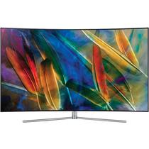 三星 QA55Q7CAMJXXZ 55英寸 曲面Q系列 光质量子点 HDR1500 四面超窄边框 隐形线缆 智能电视 银色产品图片主图