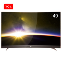 TCL 49P3 49英寸 曲面4K智能平板电视 HDR显示技术 超窄金属边框(玫瑰金)产品图片主图