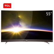TCL 55P3 55英寸 曲面4K智能平板电视 HDR显示技术 超窄金属边框(玫瑰金)