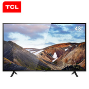 TCL L43P1A-F 43英寸 海量影视资源同步院线智能LED网络平板电视机(黑)