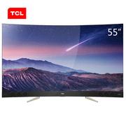 TCL 55X3 55英寸  4K超高清 内置哈曼卡顿音响 纤薄曲面量子点电视(金色)