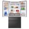 松下 NR-EW61TX1-M 618升 无边框镜面玻璃 大容量多门冰箱 玛瑙黑 臻材室设计 智能wifi控制产品图片2