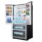 松下 NR-EW61TX1-M 618升 无边框镜面玻璃 大容量多门冰箱 玛瑙黑 臻材室设计 智能wifi控制产品图片3