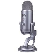 BLUE yeti 雪怪 USB电容麦克风 四种录音模式 即插即用 电脑K歌YY游戏唱吧 灰色