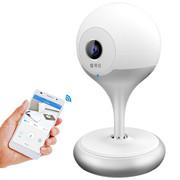 爱耳目 智能摄像头 无线远程wifi网络监控摄像机 精灵球 720P 魅力银