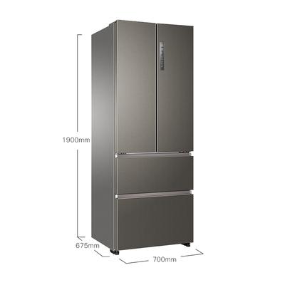 海尔 BCD-440WDPG 440升变频风冷无霜法式多门冰箱 干湿分储 三档变温双直开抽屉全空间保鲜 凯岩灰产品图片2