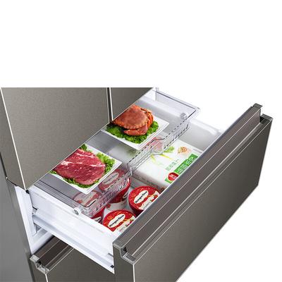 海尔 BCD-440WDPG 440升变频风冷无霜法式多门冰箱 干湿分储 三档变温双直开抽屉全空间保鲜 凯岩灰产品图片5
