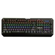 狼蛛 突袭者混光机械键盘104键有线USB游戏键盘 激光轴 黑色版