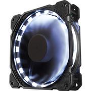 乔思伯 FR-401炫光白 12CM机箱风扇 (LED发光风扇/主板3PIN接口+电源D型口接口)