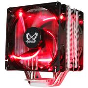 大镰刀 赤兔马STB120 PLUS CPU散热器(支持AMD AM4 intel 多平台/4热管/12cm温控红光双风扇)