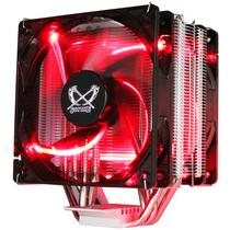 大镰刀 赤兔马STB120 PLUS CPU散热器(支持AMD AM4 intel 多平台/4热管/12cm温控红光双风扇)产品图片主图