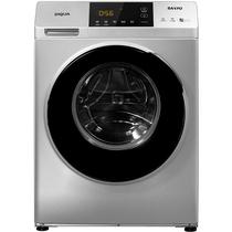 三洋 WF80BHIS565S 8公斤洗烘一体变频滚筒洗衣机 WiFi云洗 中途添衣(哑光银)产品图片主图