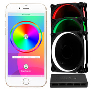 鑫谷 Moparty蓝牙RGB风扇套件(带3把RGB风扇及蓝牙控制器/多模式亮度调整/支持8风扇及2灯条)
