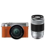 富士 X-A10 (XC16-50II/XC50-230II) 摩卡棕 微单电双镜头套机 小巧轻便 微距拍摄 180度翻折屏