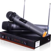 索爱 CK-M53(B)K歌无线话筒无线麦克风一拖二家用会议卡拉OK话筒手持双手麦