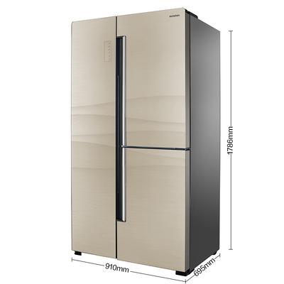容声  BCD-559WKS1HPGA 559升 T型对开门 大冷冻智能矢量双变频 杀菌保鲜 一级能效 玻璃面板银河金产品图片2