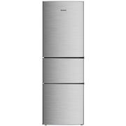 美菱 BCD-209M3CX 209升三门冰箱 三温区 家用节能静音(银)