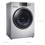 松下 XQG80-E78S2H 8公斤大容量变频滚筒洗衣机 泡沫净 三维立体洗 精准智控 银色