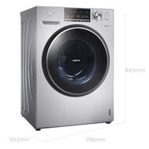 松下 XQG80-E78S2H 8公斤大容量变频滚筒洗衣机 泡沫净 三维立体洗 精准智控 银色产品图片主图