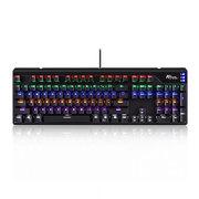 RG928 104键游戏背光式机械键盘 黑色 混光 红轴