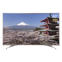 海尔  LQ49S81 49英寸 曲面4K超高清LED液晶电视 64位处理器 智能语音遥控 超窄边框(金色)产品图片主图
