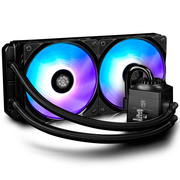 九州风神 船长240RGB CPU水冷风扇散热器 (17种RGB灯效线控调控/支持多平台/240MM双风扇)