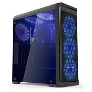 长城 魅影M-60电竞游戏机箱黑色(水冷/全侧透/USB3.0/独立电源仓/磁吸防尘)