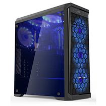长城 魅影M-60电竞游戏机箱黑色(水冷/全侧透/USB3.0/独立电源仓/磁吸防尘)产品图片主图