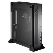 联力 黑色 Mini-ITX壁挂式机箱(5mm强化玻璃/全铝外壳/顶部过滤网/双USB 3.0接口/310mm显卡) PC-O5S