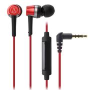 铁三角 ATH-CKR30IS 线控带麦入耳式手机耳机 红色