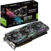 华硕 ROG-STRIX-GTX1080-O8G-11GBPS 1695-1860MHz 8G/11GHz GDDR5X PCI-E3.0显卡