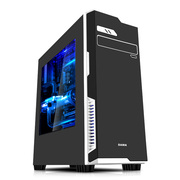 先马 塔里克3侧透版黑 商务电脑游戏机箱 /支持ATX主板 背线 高塔CPU散热器 长显卡/台式机箱