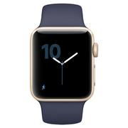 苹果 Watch Series 2 智能手表(38mm 金色铝金属表壳搭配午夜蓝色运动型表带 MQ132CH/A)
