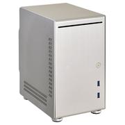 联力 银色Mini-ITX机箱(全铝外壳/底部配备硬盘底座/双前置USB 3.0接口 PC-Q21A